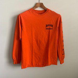 Death Row Records Tupac Long Sleeve Band T Shirt